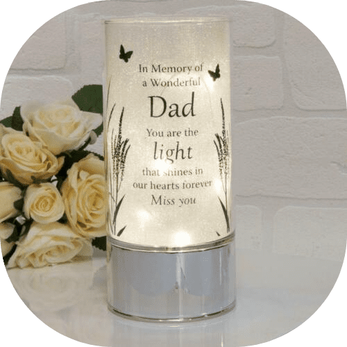 Dad Memorial Thoughts of You LED Light Tube Remembrance Candle Battery Operated