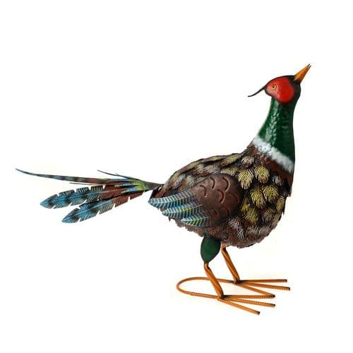 Farmyard Aged Pheasant Metal Ornament