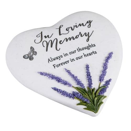Memorial Thoughts Of You Heart Lavender