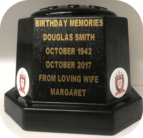Salford Reds Rugby personalised grave pot