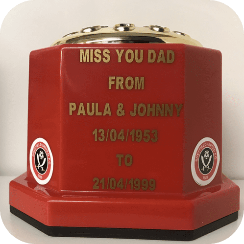 Sheffield United F. C.  football personalised Grave pot red