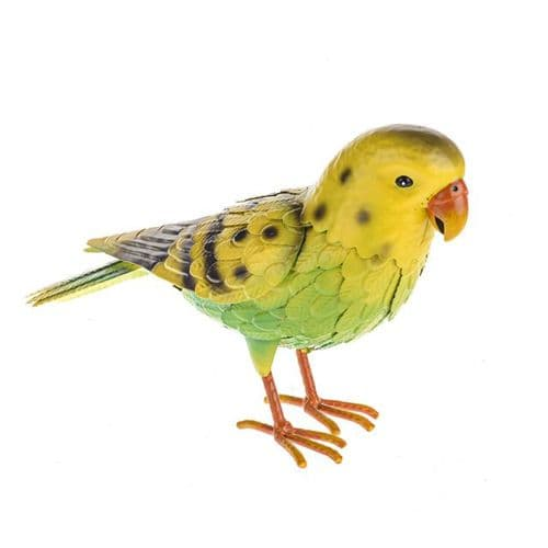 Wild Jungle Metal Budgie Ornament