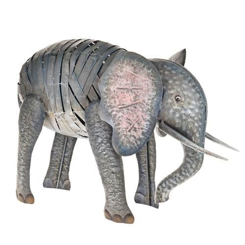 Wild Jungle Metal Elephant Ornament 35 cm