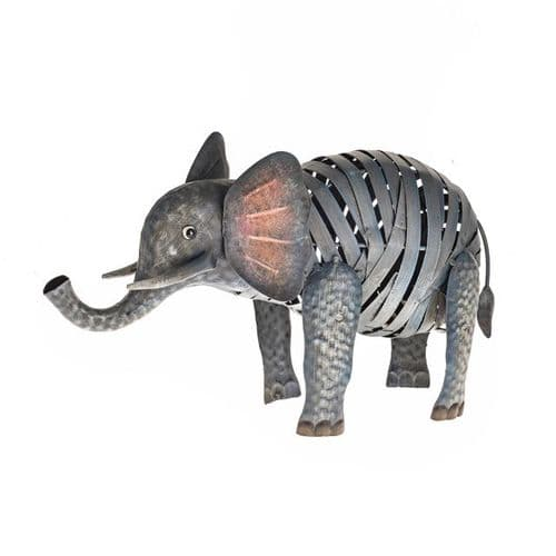 Wild Jungle Metal Elephant Ornament 39 cm