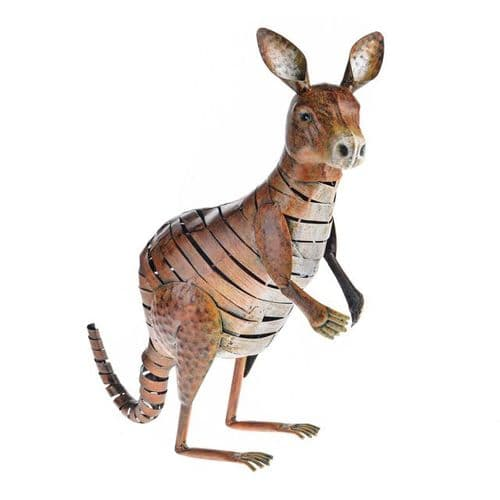 Wild Jungle Metal Kangaroo Ornament
