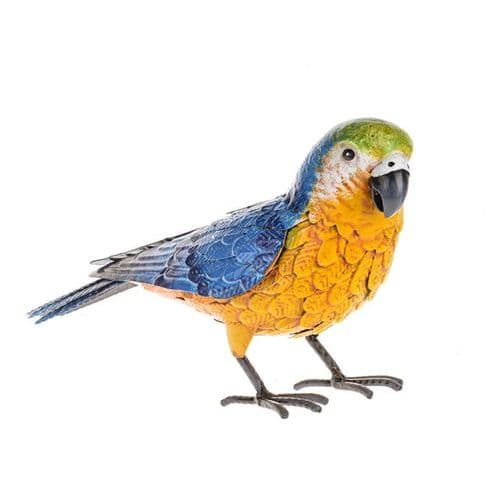 Wild Jungle Metal Parrot Ornament 17 cm