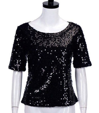 B&S - Black sequin top