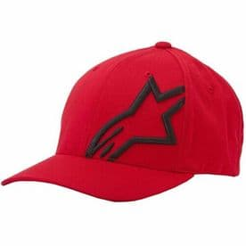 Alpinestars Corp Shift 2 Cap Red with Black logo