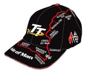 Isle of man TT Mountain Course Map Cap