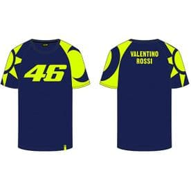 VR46 Official Valentino Rossi Sole E Luna T-Shirt Blue Yellow