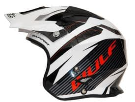 Wulfsport Impact Helmet - White Black Red