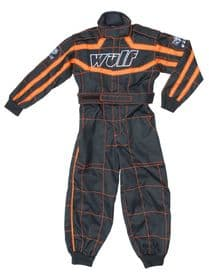 Wulfsport Kids Motocross Karting Suit Wulf MX Youtad Overalls Orange-Black