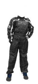 Wulfsport Kids Motocross Karting Suit Wulf MX Youtad Overalls White-Black