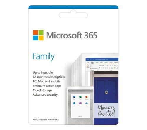 Microsoft Office 365 Family, 6 Users (PCs/Macs, Tablets & Phones)
