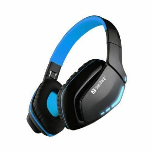 Sandberg Blue Storm Bluetooth Headset, Microphone, 40mm Driver, Foldable, Black & Blue