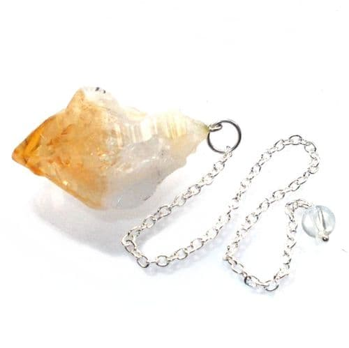Citrine Natural Formed Point Dowsing Pendulum Crystal