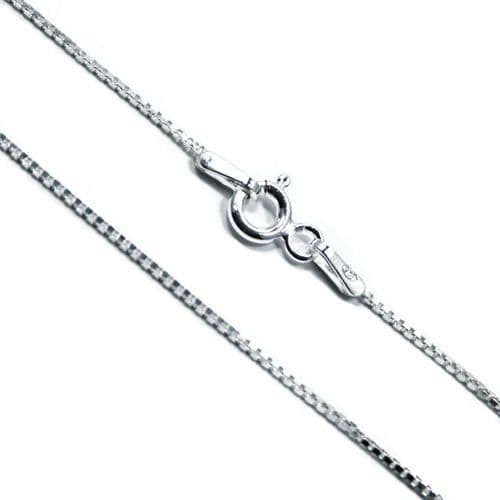 Italian Sterling Silver Square Link Box Chain 1mm