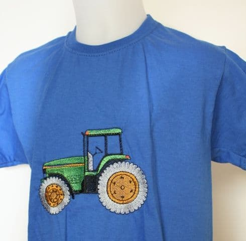 kids t-shirt with green tractor