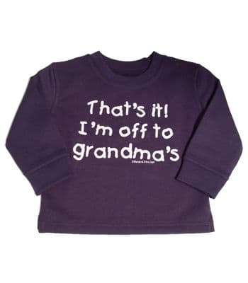 "Navy sweatshirt "" That`s it I`m off to Grandma`s """