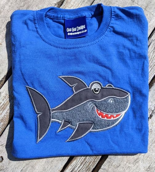 Short sleeved Tshirt in Royal Blue Shark