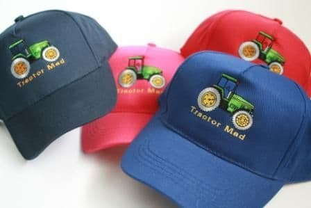 "Tractor caps with ""Tractor Mad"""