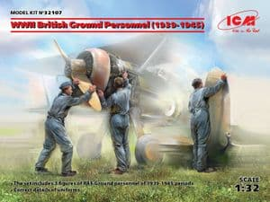 ICM32107  WWII British Ground Personnel (1939-1945) (3 figures) (100% new molds)