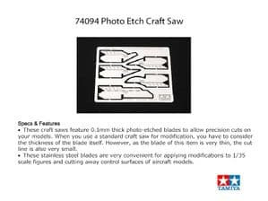 TA74094 PHOTO ETCHED CRAFT SAW