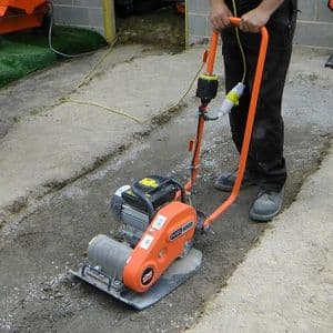 380mm Compactor Plates - 110V (For Hire)