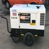 6 to 10 kVA Quiet Running Site Generators - 110V & 240V  (For Hire)