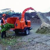 "9""/230mm Trailer Mounted Commercial Waste Shredder (For Hire)"