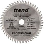 Trend Professional 160x20mm TCT Plunge Saw Blade  - 48 Teeth (FT/160X48X20A)