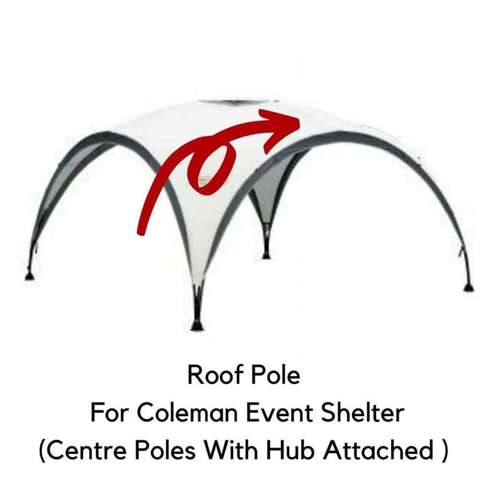 Coleman Event Shelter M 3 x 3m  Roof Pole & Hub