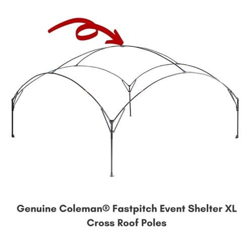 Coleman® Fastpitch Shelter XL Cross Roof Pole