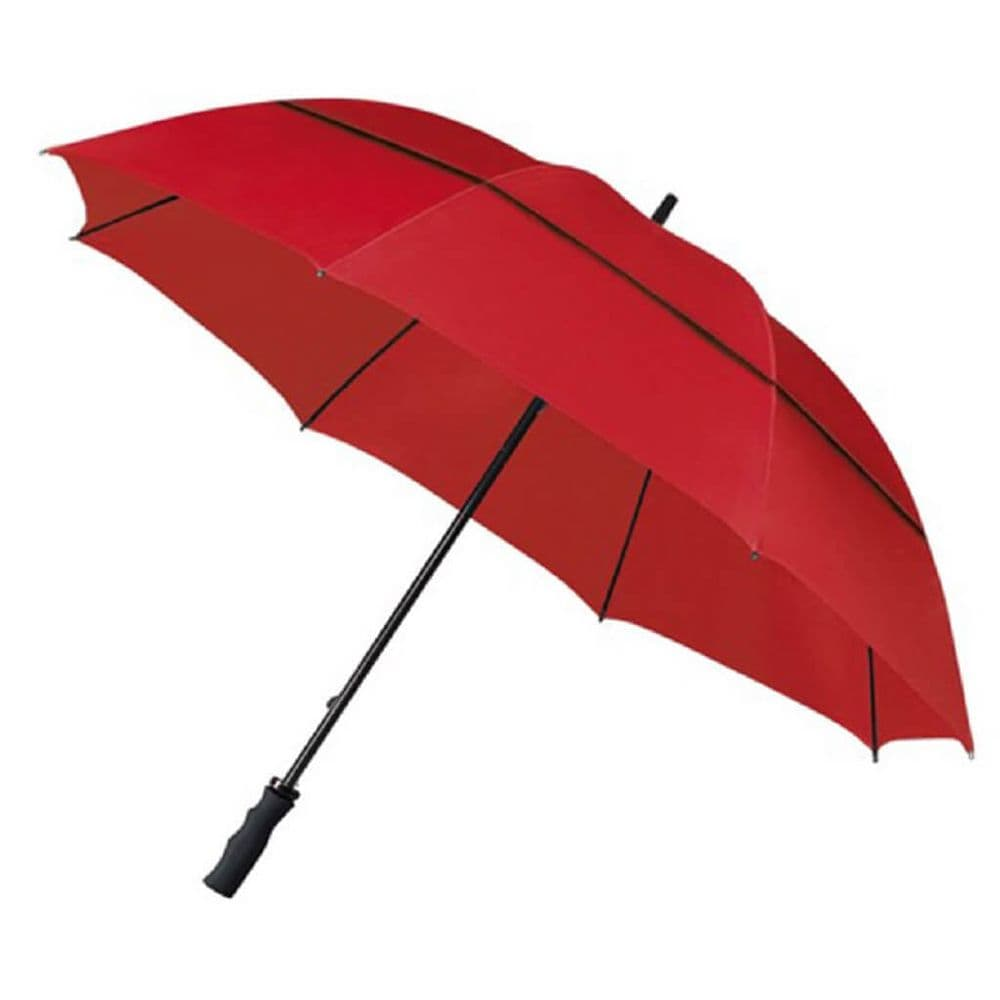 ECO Windproof Golf Umbrella Red - Recycled Bottles!
