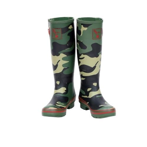 Evercreatures  Camouflage Tall Wellington Boots