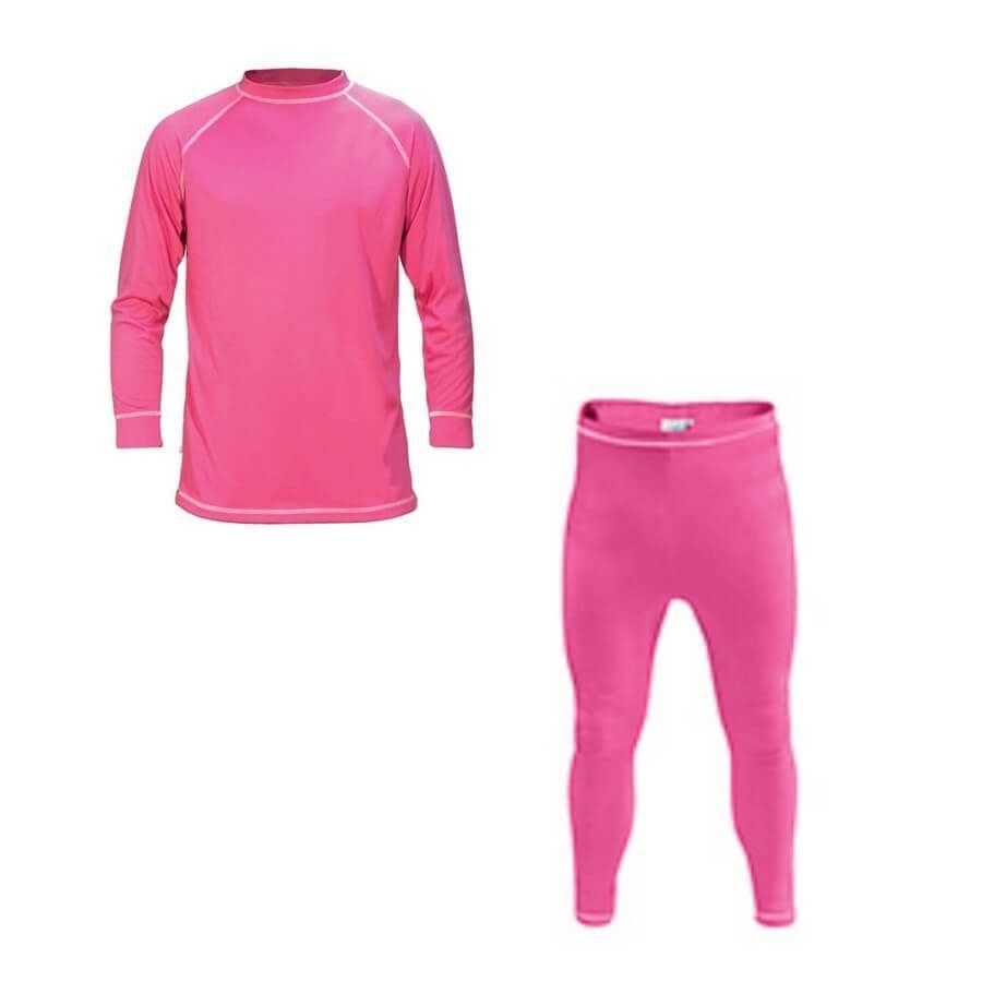 Supatherm Unisex 2 Piece Baselayer Set - Small - pink