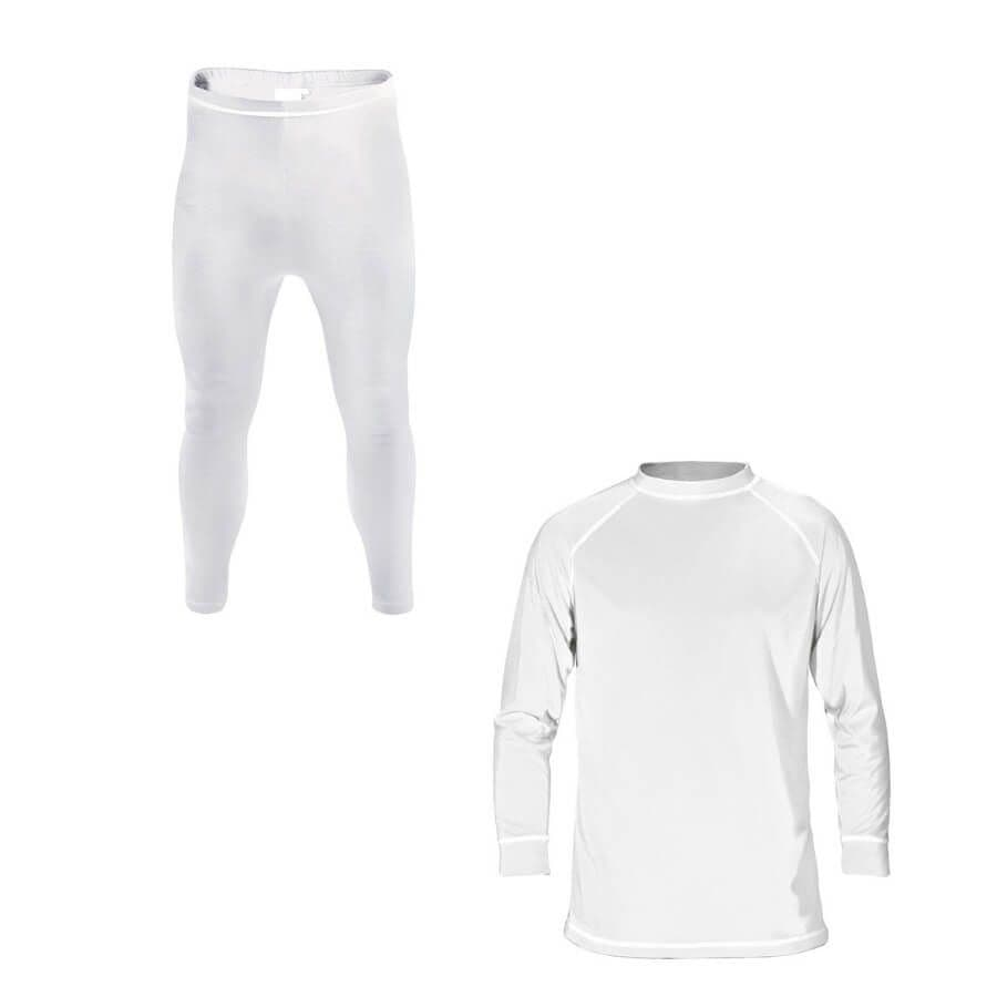 Supatherm Unisex Childrens 2 Piece Baselayer Set 3-4 white