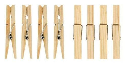 Traditional Wooden Clothes Pegs x 36