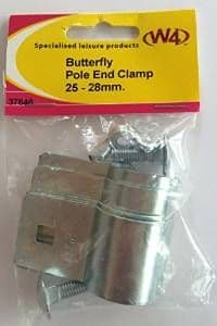 W4 Butterfly Pole End Clamp 25 - 28mm