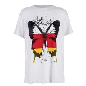 Brody & Co. Girls Germany Flag Butterfly T-Shirt