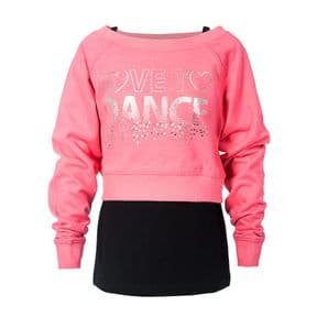 Girls Double Layer Sweatshirt & Vest
