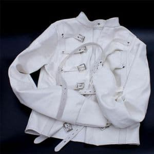 Asylum Patient Straight Jacket L/XL, White box 003