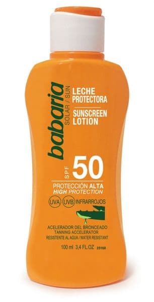 Babaria Aloe Vera Sun Lotion SPF 50 100ml Travel Size