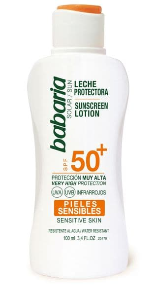 Babaria Aloe Vera Sun Lotion SPF 50+ Sensitive Skin 100ml Travel Size