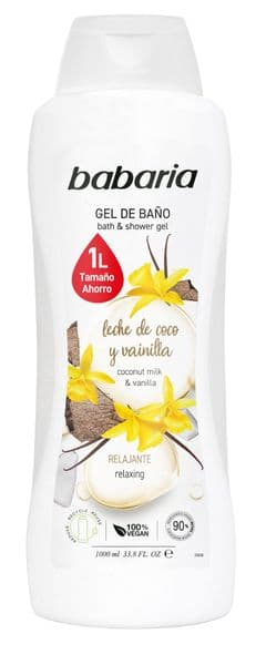 Babaria Coconut Milk and Vanilla Shower Gel 1000ml