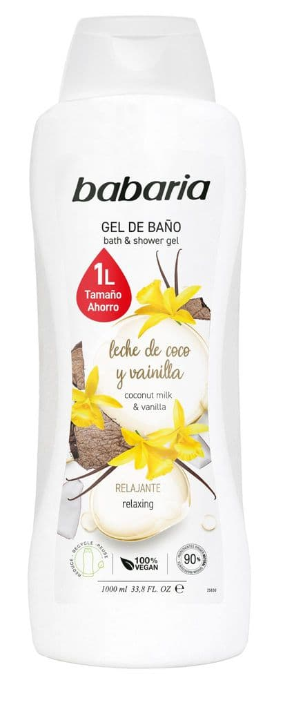 Babaria Coconut Milk and Vanilla Shower Gel 1000ml | Mia Beauty Ltd