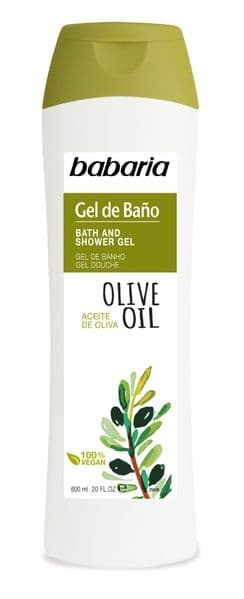 Babaria Olive Oil Bath and Shower Creamy Gel 600ml Paraben Free