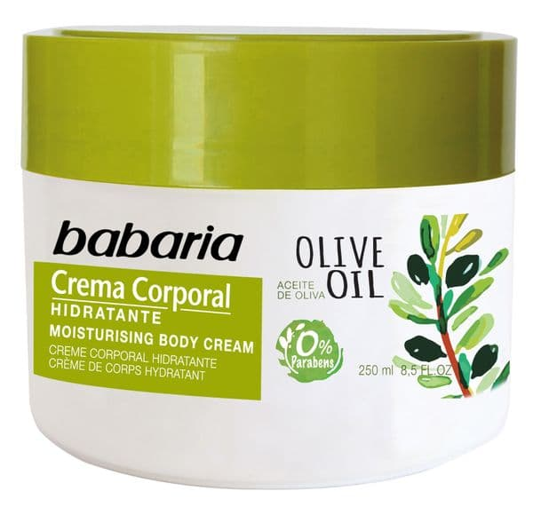 Babaria Olive Oil Nourishing Hand and Body Cream  250ml | Mia Beauty Ltd