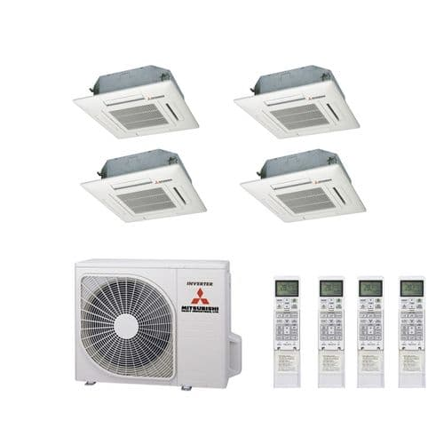 Mitsubishi Heavy Industries Air Conditioning SCM60ZM-S Multi Inverter Heat Pump 3 x FDTC35VF Compact Cassette A++ 240V~50Hz