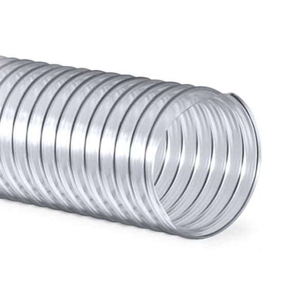 10 Meter Lindab Tecflex PU Flexible Translucent Polyurethene Dust Extraction 51mm to 304mm